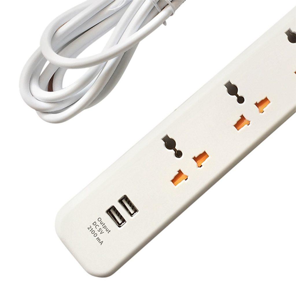 Ổ Cắm Điện 3 Chấu 2 cổng USB Philips SPN6248WB/74