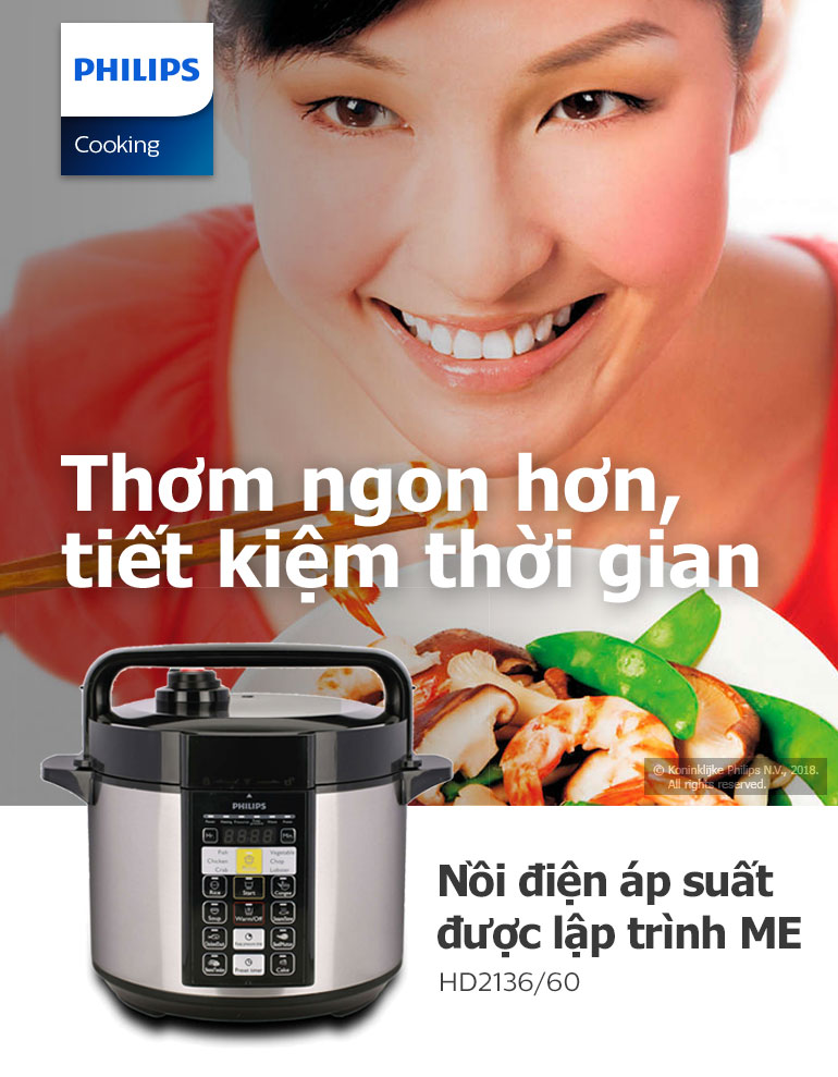 Nồi Áp Suất Điện Tử Philips HD2136 (5L) 2