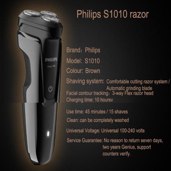Máy cạo râu 3 lưỡi Philips tích hợp đèn led S1010 6
