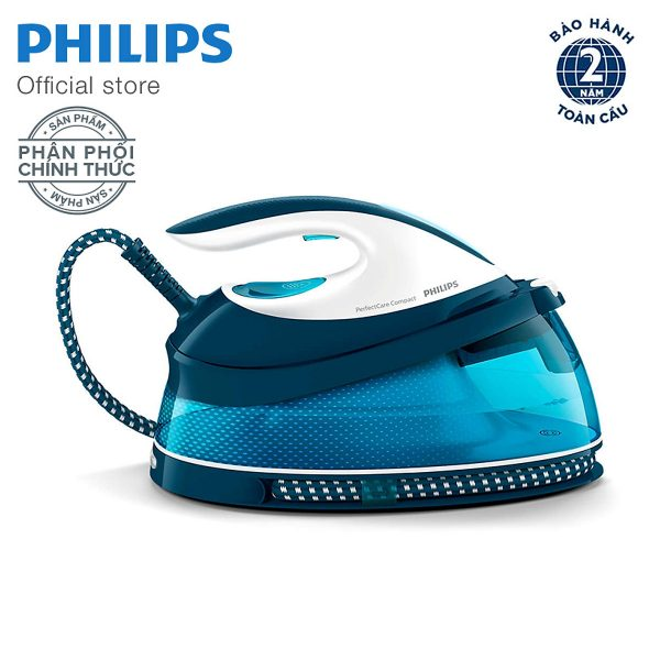 Bàn ủi tạo hơi nước Philips GC7805 (Trắng Xanh) 4