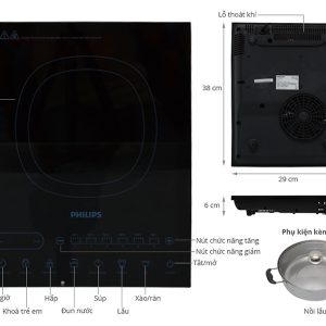Bếp Điện Từ Philips HD4932 12