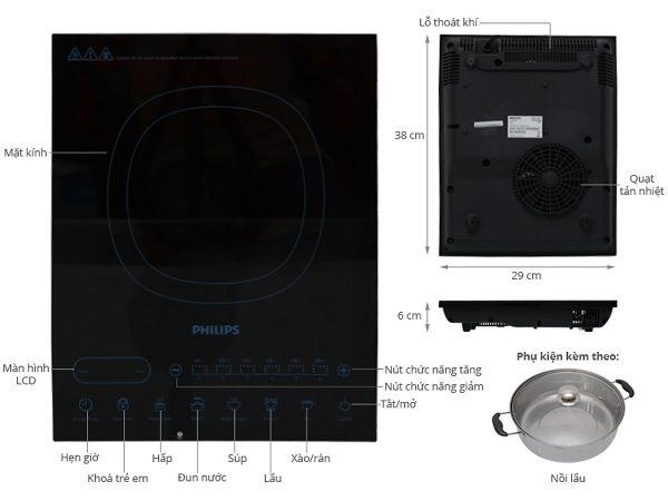Bếp Điện Từ Philips HD4932 4