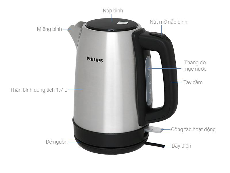Bình Đun Siêu Tốc Philips HD9350/90 (1.7L)