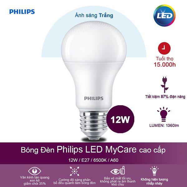 Bóng đèn Philips LED MyCare 8W 6500K E27 A60 - Ánh sáng trắng 2