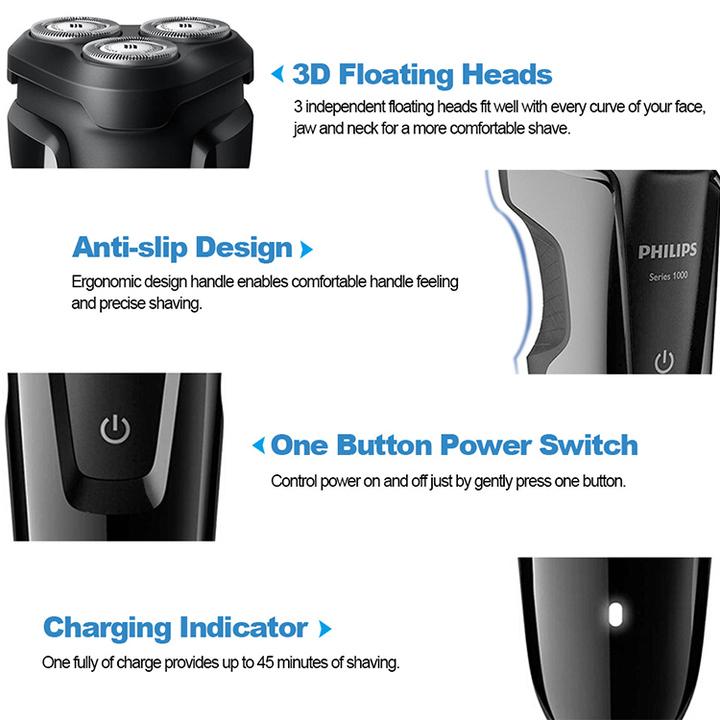 Máy cạo râu 3 lưỡi Philips tích hợp đèn led S1010 31