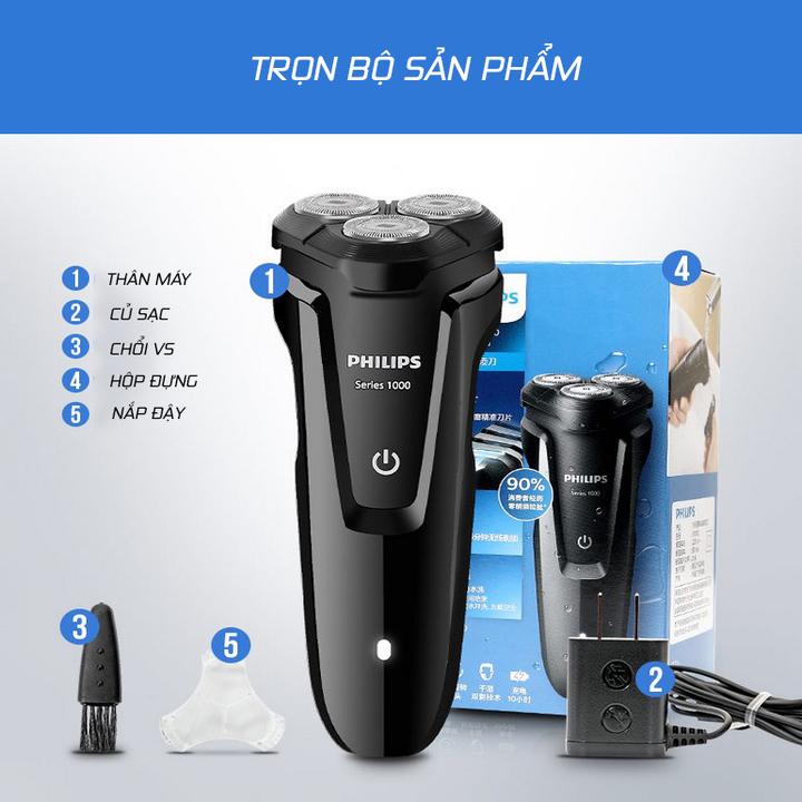Máy cạo râu 3 lưỡi Philips tích hợp đèn led S1010 33