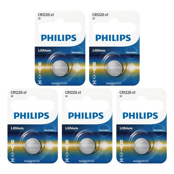 Pin nút Lithium Philips 3V CR1220P5B 2