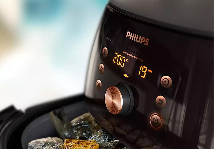 Bảng điều khiển của Nồi chiên không dầu Philips Airfasher HD9860/91 XXL
