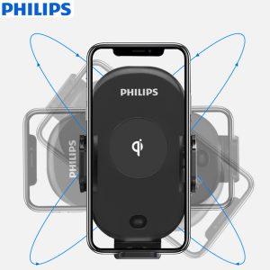 Gía đỡ điện thoại kiêm sạc không dây trên ô tô, xe hơi Philips DLK9411N 32