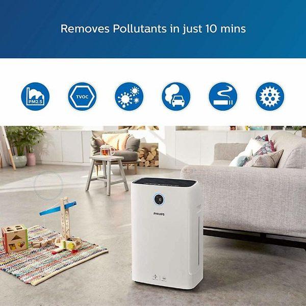 Máy lọc không khí kèm chức năng tạo độ ẩm 2 trong 1 Philips Series 3000 AC2726/00 2