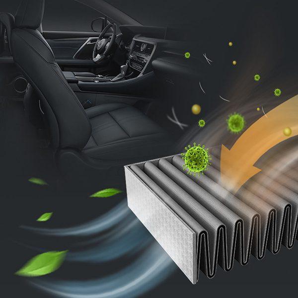 Máy lọc không khí, khử mùi trên xe ô tô Philips GP9101 cảm biến chất lượng không khí 6 màu 16