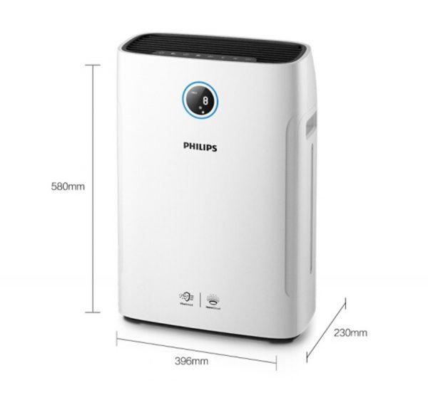 Máy lọc không khí kèm chức năng tạo độ ẩm 2 trong 1 Philips Series 3000 AC2726/00 3