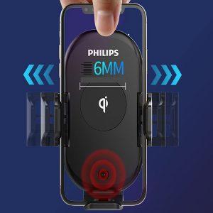 Gía đỡ điện thoại kiêm sạc không dây trên ô tô, xe hơi Philips DLK9411N 27