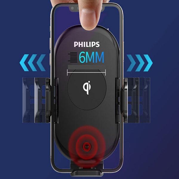 Gía đỡ điện thoại kiêm sạc không dây trên ô tô, xe hơi Philips DLK9411N 10