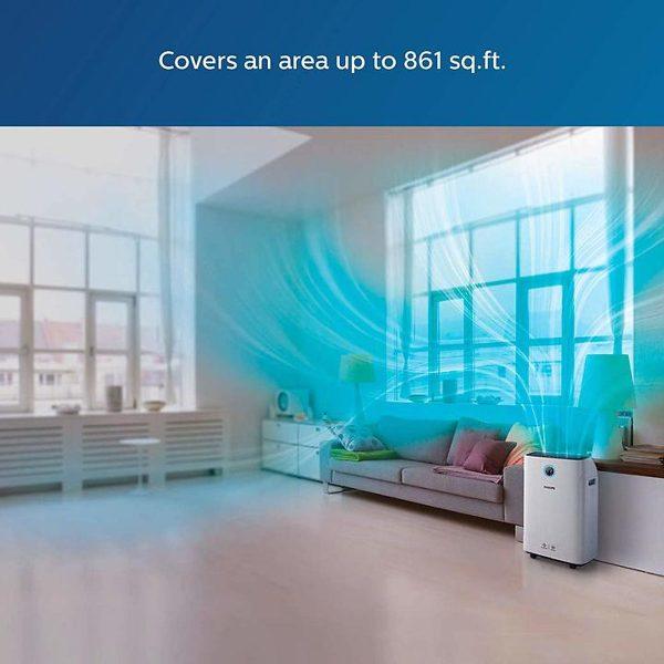 Máy lọc không khí kèm chức năng tạo độ ẩm 2 trong 1 Philips Series 3000 AC2726/00 7
