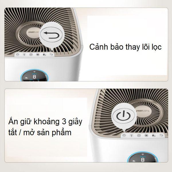 Máy lọc không khí cao cấp kháng khuẩn Philips AC5668/00 tích hợp Wifi - 65W 13