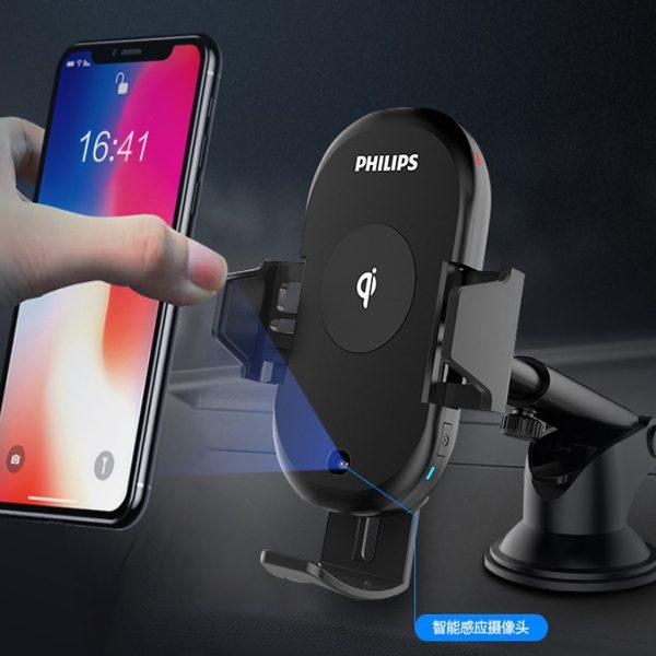 Gía đỡ điện thoại kiêm sạc không dây trên ô tô, xe hơi Philips DLK9411N 8