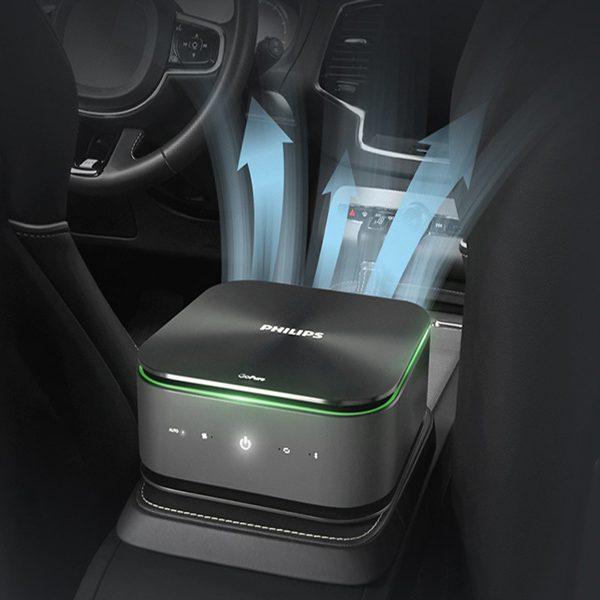 Máy lọc không khí, khử mùi trên xe ô tô Philips GP9101 cảm biến chất lượng không khí 6 màu 12