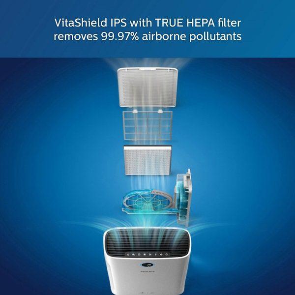 Máy lọc không khí kèm chức năng tạo độ ẩm 2 trong 1 Philips Series 3000 AC2726/00 14