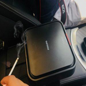 Máy lọc không khí, khử mùi trên xe ô tô Philips GP9101 cảm biến chất lượng không khí 6 màu 40