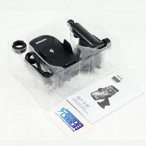 Gía đỡ điện thoại kiêm sạc không dây trên ô tô, xe hơi Philips DLK9411N 22