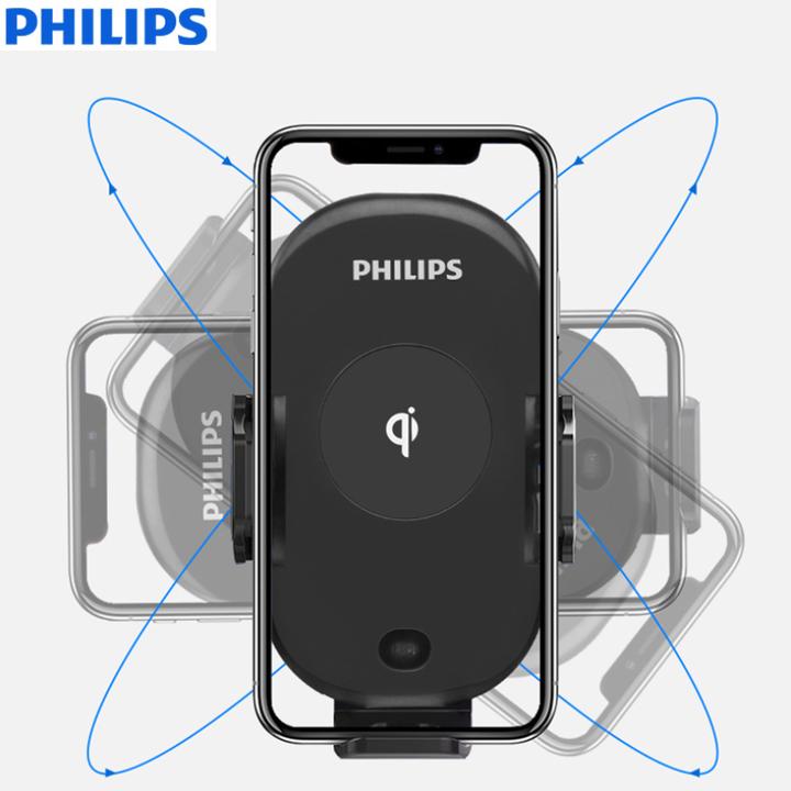 Gía đỡ điện thoại kiêm sạc không dây trên ô tô, xe hơi Philips DLK9411N 63