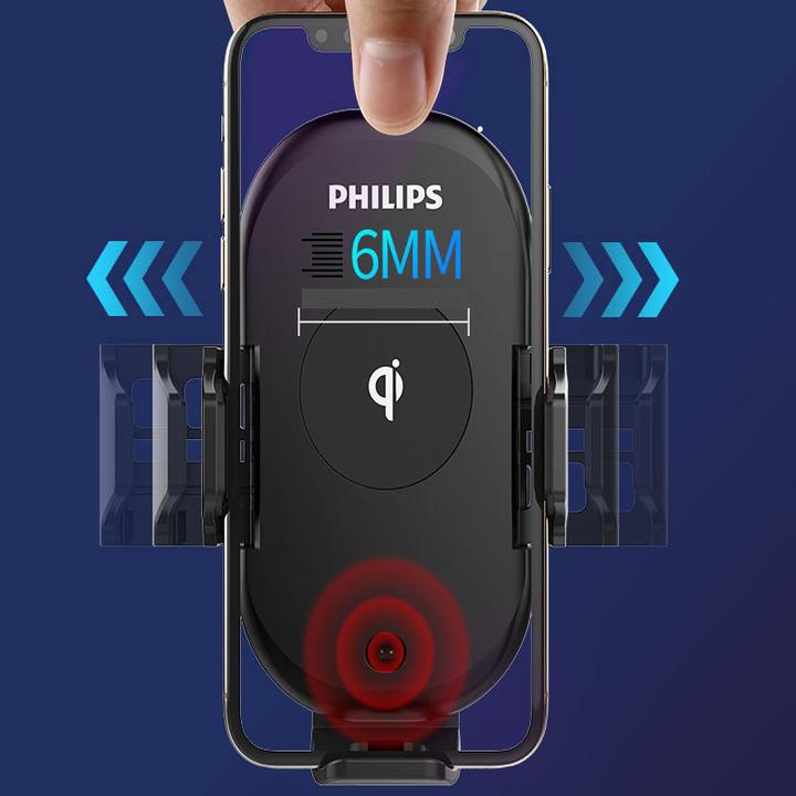 Gía đỡ điện thoại kiêm sạc không dây trên ô tô, xe hơi Philips DLK9411N 75