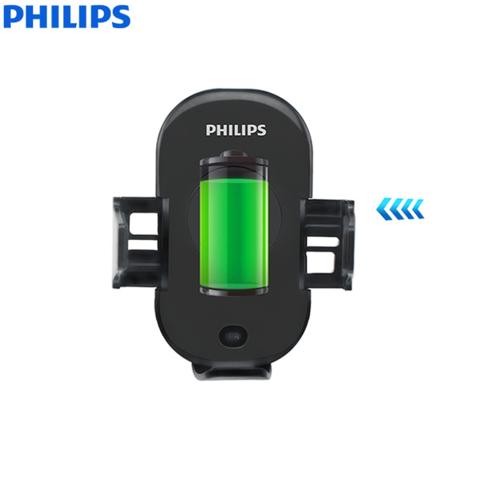 Gía đỡ điện thoại kiêm sạc không dây trên ô tô, xe hơi Philips DLK9411N 45