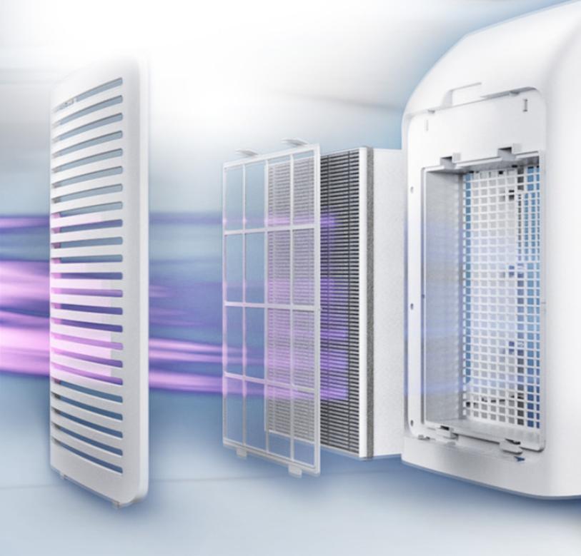 Máy lọc không khí kèm chức năng tạo độ ẩm 2 trong 1 Philips Series 3000 AC2726/00 41