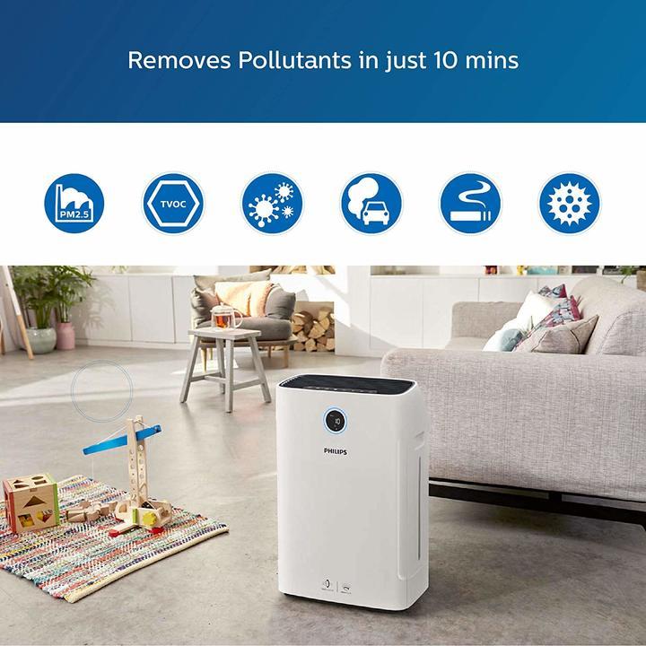 Máy lọc không khí kèm chức năng tạo độ ẩm 2 trong 1 Philips Series 3000 AC2726/00 44