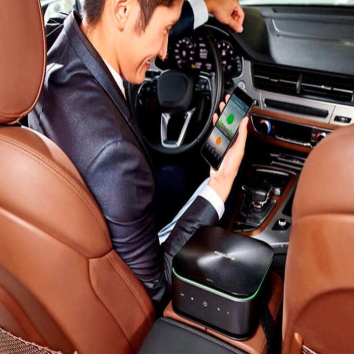 Máy lọc không khí, khử mùi trên xe ô tô Philips GP9101 cảm biến chất lượng không khí 6 màu 62