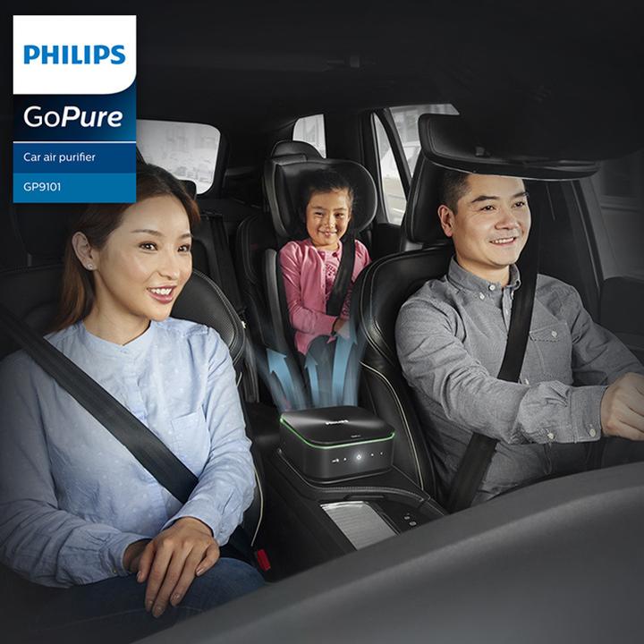 Máy lọc không khí, khử mùi trên xe ô tô Philips GP9101 cảm biến chất lượng không khí 6 màu 55