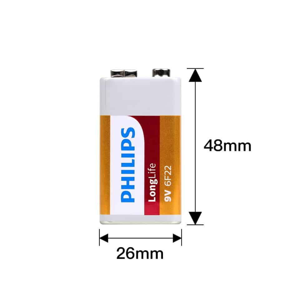 Pin Carbon Philips 6F22 (1 Viên 9V) 11