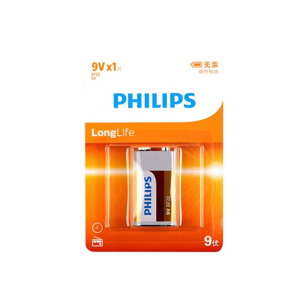 Pin Carbon Philips 6F22 (1 Viên 9V) 8