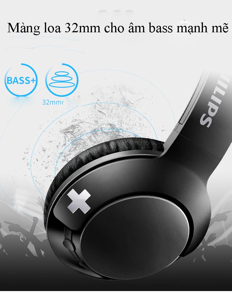 Tai nghe bluetooth Philips SHB-3075 Bass+ 5