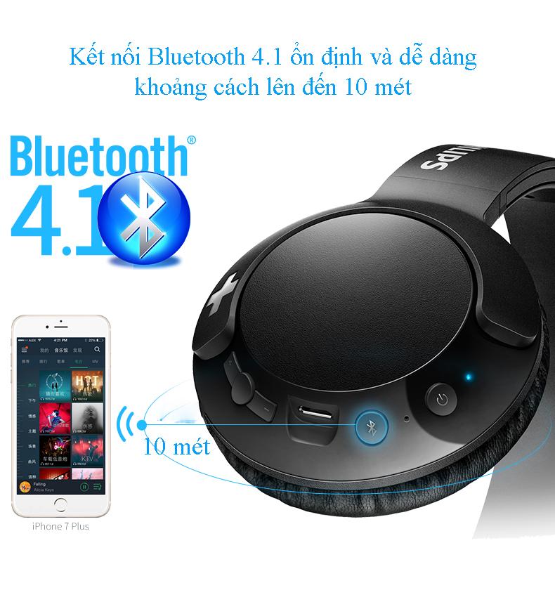Tai nghe bluetooth Philips SHB-3075 Bass+ 6