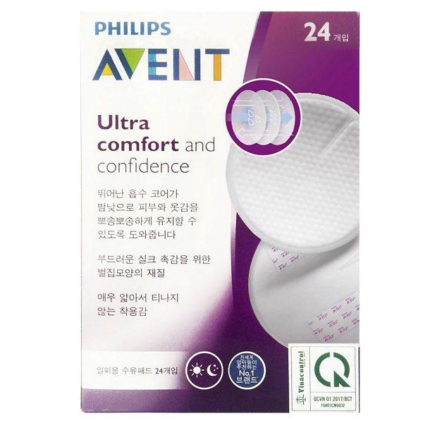 Miếng Lót Thấm Sữa Dùng 1 Lần Philips Avent SCF254.24 - (24 Miếng/ Hộp) 1