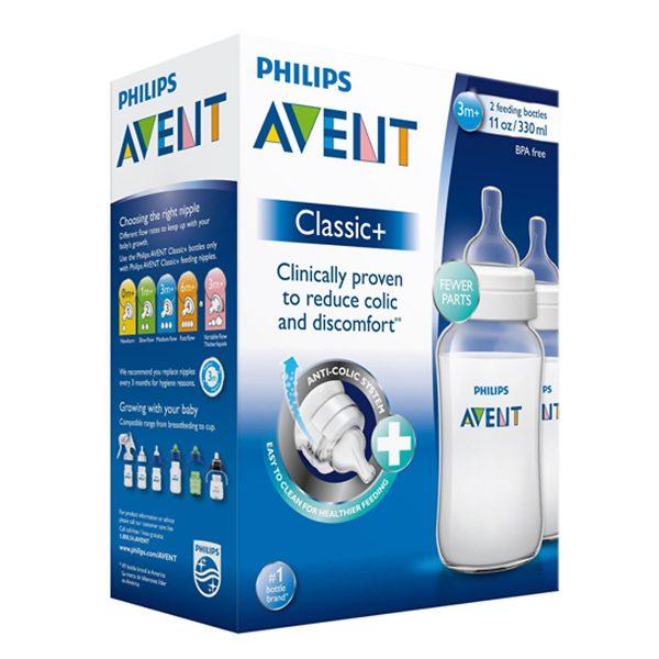 Bộ 2 Bình Sữa Nhựa PP Philips Avent- 566.27 (330ml) 2
