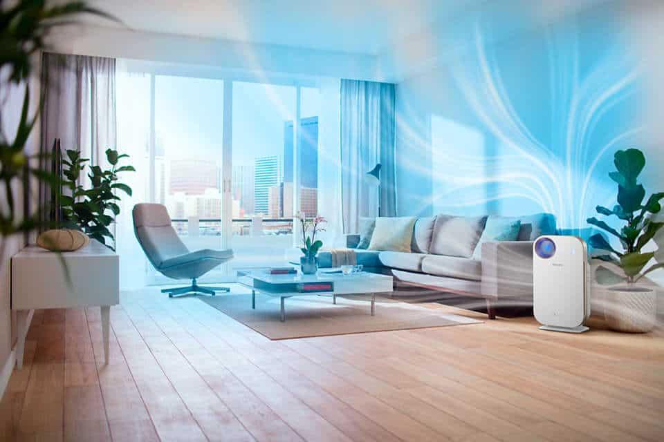 Máy lọc không khí trong nhà kháng khuẩn Philips AC4558/00 tích hợp Wifi, cảm biến chất lượng không khí 4 màu 46