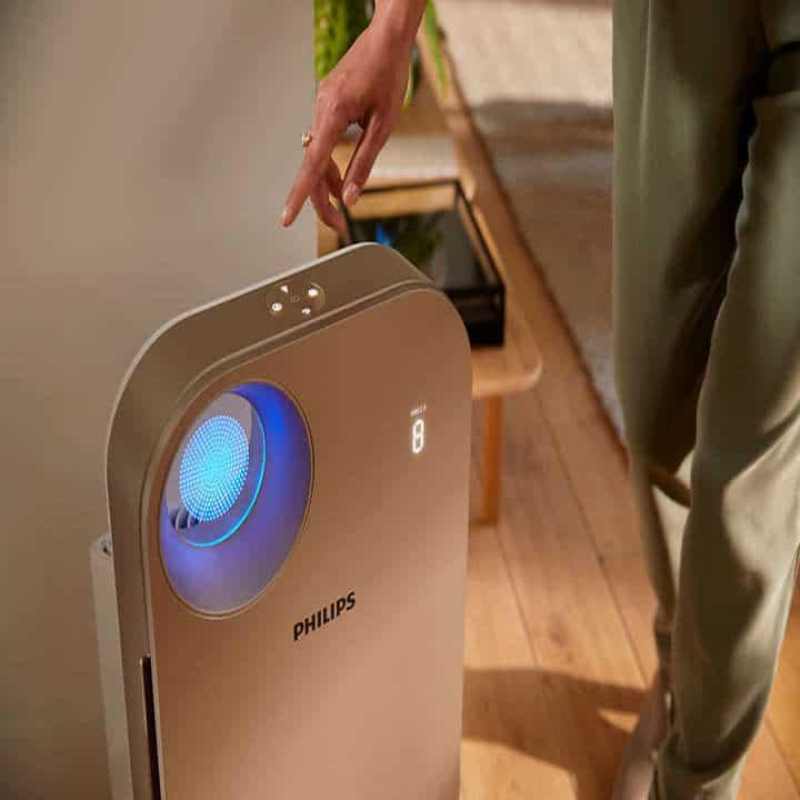 Máy lọc không khí trong nhà kháng khuẩn Philips AC4558/00 tích hợp Wifi, cảm biến chất lượng không khí 4 màu 53