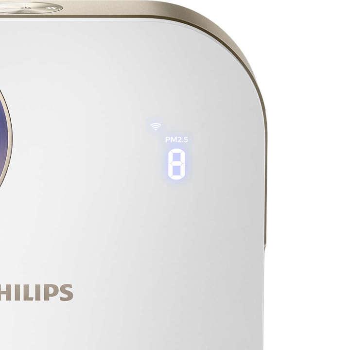 Máy lọc không khí trong nhà kháng khuẩn Philips AC4558/00 tích hợp Wifi, cảm biến chất lượng không khí 4 màu 38