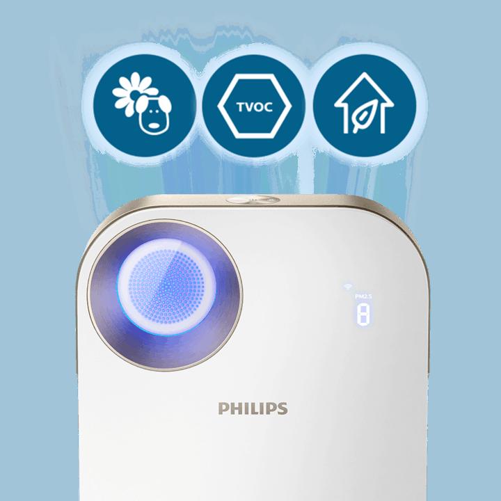Máy lọc không khí trong nhà kháng khuẩn Philips AC4558/00 tích hợp Wifi, cảm biến chất lượng không khí 4 màu 41