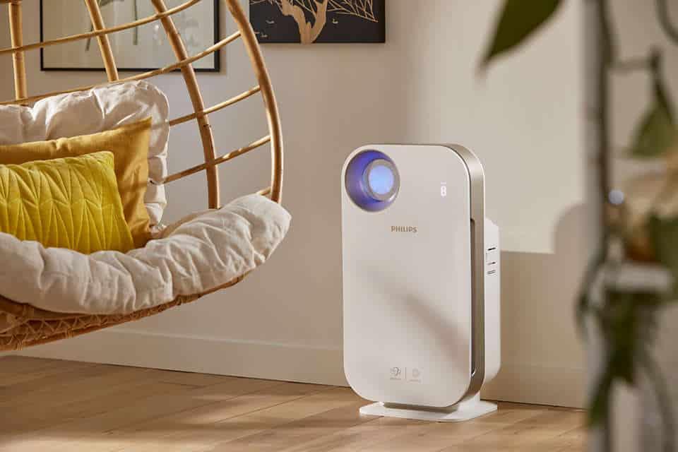Máy lọc không khí trong nhà kháng khuẩn Philips AC4558/00 tích hợp Wifi, cảm biến chất lượng không khí 4 màu 45