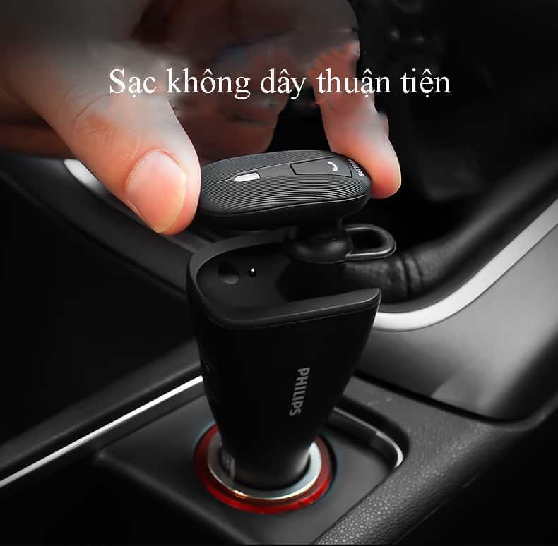 Tai nghe bluetooth kiêm sạc xe hơi, ô tô Philips SHB1801P 5