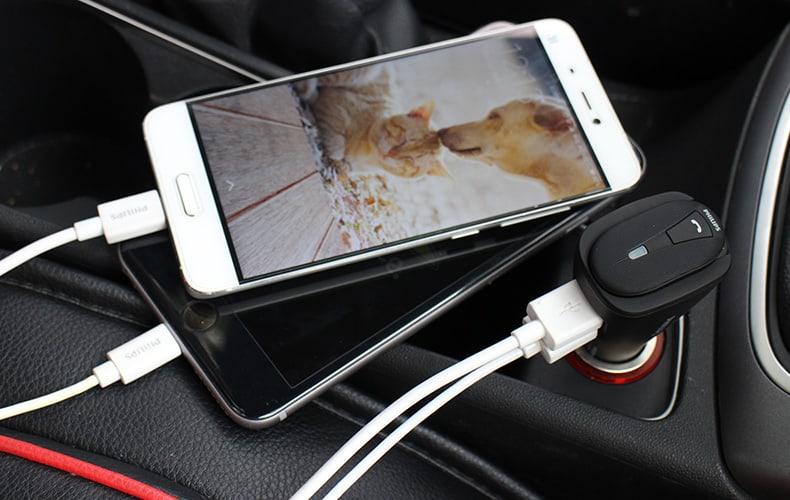 Tai nghe bluetooth kiêm sạc xe hơi, ô tô Philips SHB1801P 7