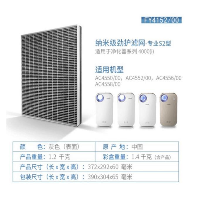 Tấm lọc, màng lọc thay thế Philips FY4152/00 dùng cho các mã AC4550, AC4552, AC4558 35