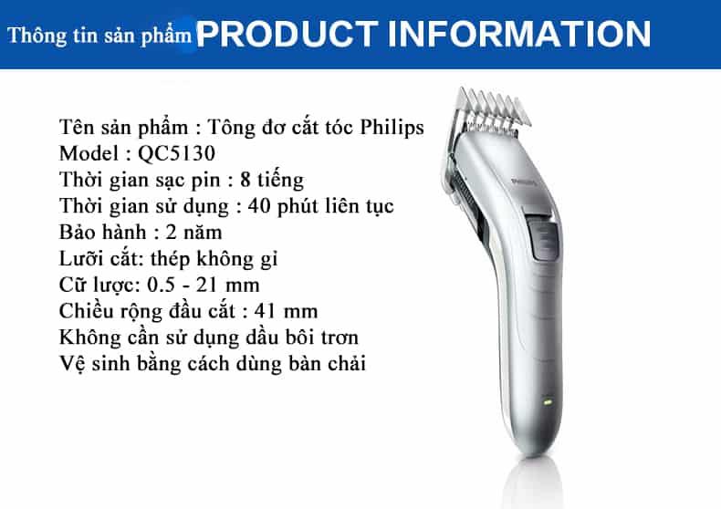 Tông đơ cắt tóc Philips QC5130 10